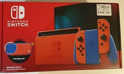 AU300 • Buy Nintendo Switch Mario Red & Blue Edition Console NEW