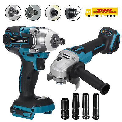£23.99 • Buy 125mm Angle Grinder 520Nm Impact Wrench Brushless Cordless Grinding For Makita