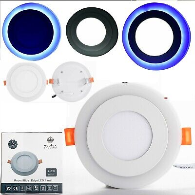 £7.99 • Buy Ceiling Light Led Concealed Lamp Panel Recessed Modern Colour Round Downlight Uk