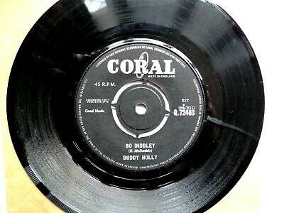 £2.45 • Buy Buddy Holly UK Coral 45 ~ Bo Diddley / It's Not My Fault  1963 VG