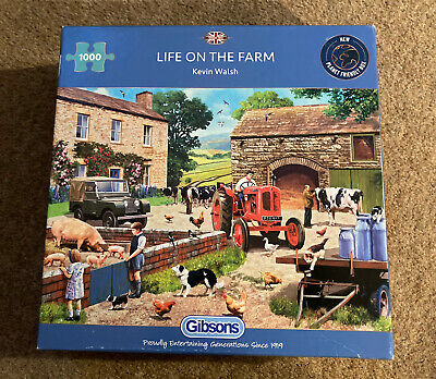 £7.99 • Buy Life On The Farm By Steve Read 1000 Piece Gibsons Jigsaw Puzzle