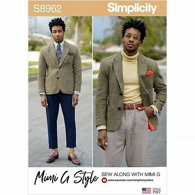 £8.45 • Buy SIMPLICITY Sewing Patterns~ 8962 MIMI G STYLE Mens Jacket 34 -42  Or 44 -52