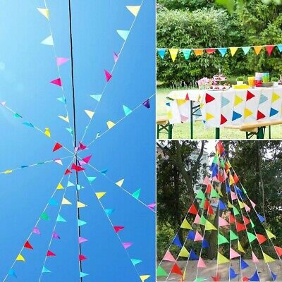 $9.95 • Buy 100M 150pc Multi Colour Bunting Flag Party Banner Decoration Birthday Wedding