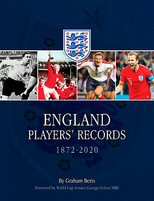 £20 • Buy England Players' Records 1872-2020 - National Team Who's Who - Football Book