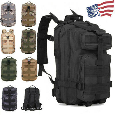 $25.99 • Buy 30L Outdoor Military Molle Tactical Backpack Rucksack Camping Hiking Travel Bag