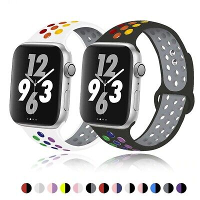 $ CDN6.44 • Buy Soft Silicone Band For Apple Watch Series 6 SE 5 4 3 2 1 38 42 Rubber Watchband