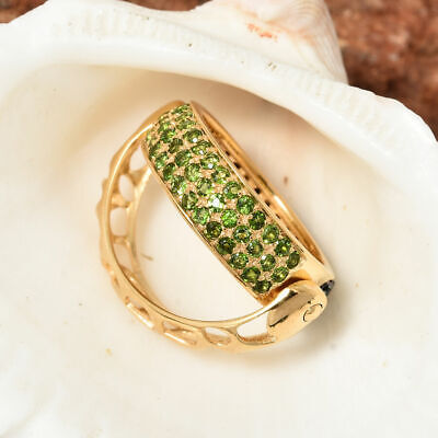 £40.99 • Buy GP Blue Sapphire Eternity Ring In 14ct Gold Plated Silver With Spinel, Diopside
