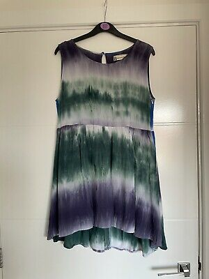 £6.60 • Buy Hearts And Bows Summer 14 Tie-dye Beach Dress Green Blue White Purple