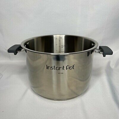 $26.97 • Buy Genuine Instant Pot Evo Stainless Steel Inner Cooking Pot With Handles - 6 Quart