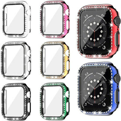 $ CDN4.85 • Buy Case Bumper Crystal Diamonds Cover Protector For Apple Watch Series 6 5 4 SE