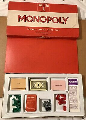 £13.99 • Buy Monopoly Vintage Waddington's Classic Board Game. Big Red Edition. Complete.