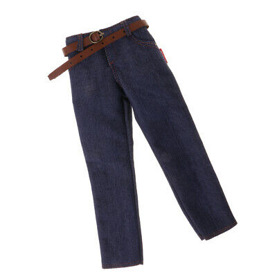 $8.85 • Buy Men's Clothing Dark Blue Jeans Pants For 1/6 Scale 12'' Enterbay Figure Body