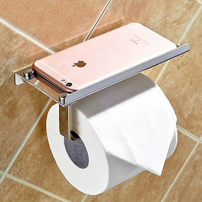 AU17.49 • Buy Toilet Roll Holder Wall Mounted Round Tissue Paper Stand Bathroom Storage