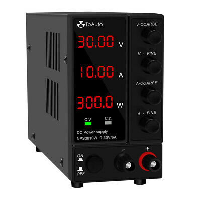 £63.99 • Buy Adjustable DC Bench Power Supply 30V 10A/6A LED Precision Lab Variable UK Ship
