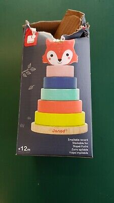 £7.50 • Buy Janod Baby Forest Fox Stacker With Damaged Packaging