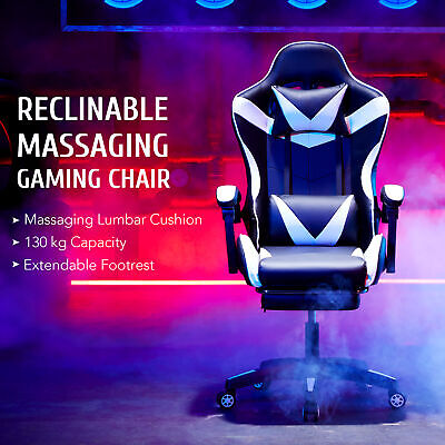 AU149.99 • Buy Gaming Chair Massage Office Chair Computer Executive Chairs Footrest Racer