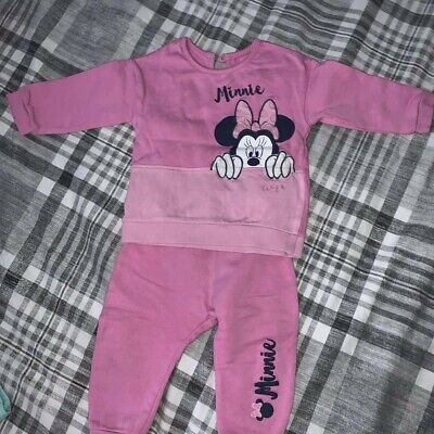 £3.50 • Buy Baby Girls Minnie Mouse Outfit Set 6-9 Months Pink George