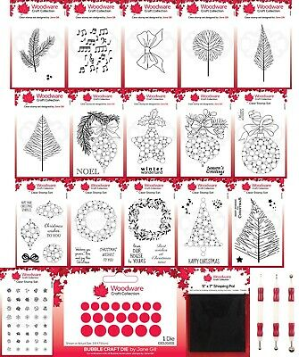 £4.99 • Buy Woodware Festive Clear Stamps - By Jane Gill - Creative Expression