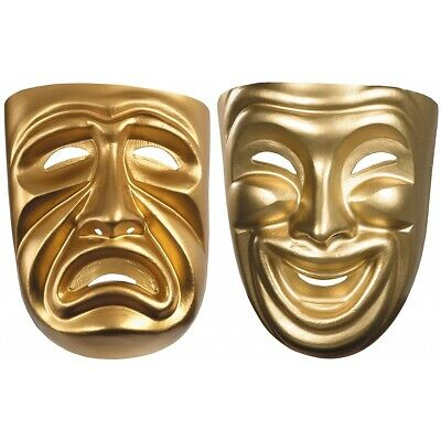 £8.67 • Buy Comedy Tragedy Masks Adult Masquerade Halloween Costume Fancy Dress