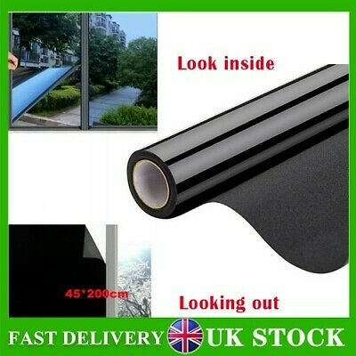 £7.46 • Buy Blackout Mirror Window-Film Heat UV Reflective Privacy Tint Foil For Home Office