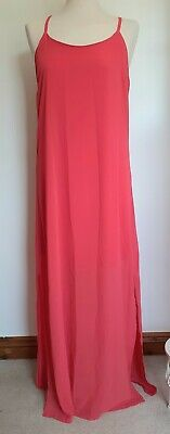 £12.99 • Buy Wal G Coral Maxi Dress Size L Approx Size 14 BNWT