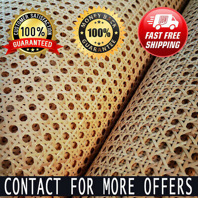 £30.22 • Buy Natural Wide Indonesian Real Rattan Wicker Cane Webbing Furniture Chair Table