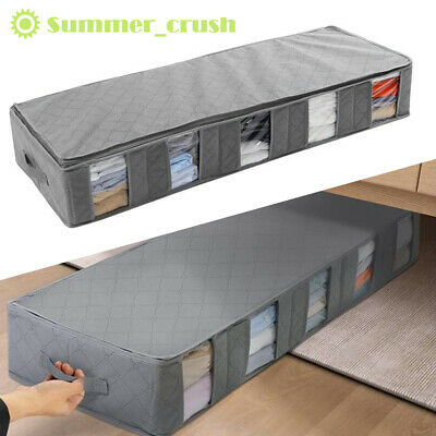 £4.49 • Buy 5 Compartments Under Bed Storage Bag Large Capacity Clothes Shoes Organizer Box