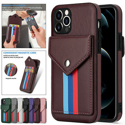 AU14.99 • Buy For IPhone 12 11 Pro/Max XR XS SE/8/7 Plus Case Leather Wallet Card Slot Cover