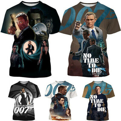 £7.99 • Buy 3D Womens/mens Short Sleeve T-Shirt Casual Top Tee James Bond 007 No Time To Die