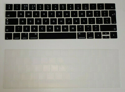 £3.39 • Buy UK EU Keyboard Skin Cover For Apple MacBook PRO 13 A1989 Touch, Clear & Black