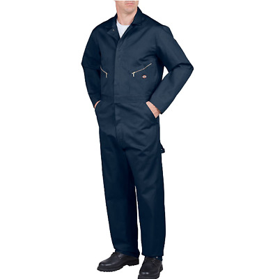 $37.76 • Buy Dickies Mens Coveralls Dark Navy S Tall Long Sleeve Deluxe 100% Cotton New Nwt