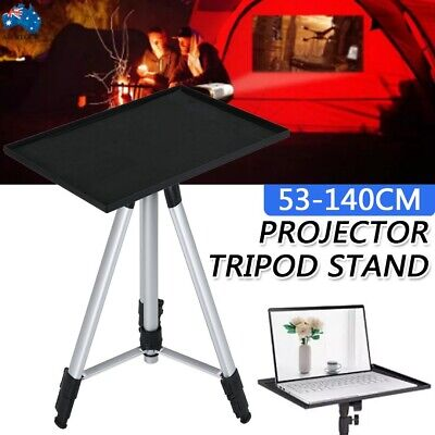AU43.69 • Buy Projector Tripod Stand Aluminium Adjustable For Laptop 52-140cm Height W/ Tray