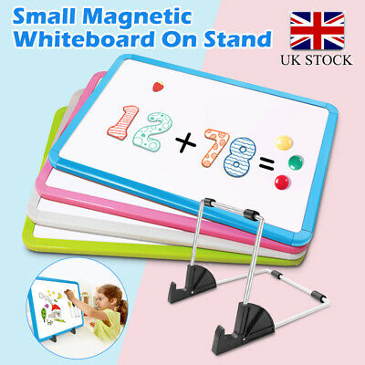 £12.99 • Buy Small Dry Erase White Board Magnetic Desktop Easel Double-Sided Colored Frame