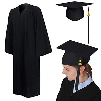 £13.76 • Buy University Graduation Gown And Mortarboard Hat Set With Bling Removable Tassel 2