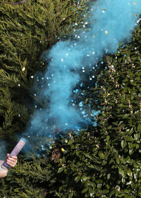 £9.99 • Buy Gender Reveal Boy Blue Smoke And Confetti Cannon Shooter