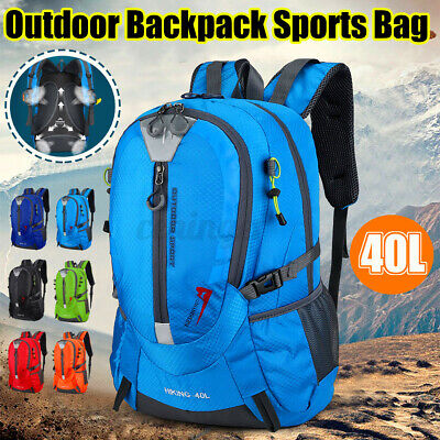 AU19.79 • Buy 40L Hiking Backpack Camping Travel Bag Small Bags Foldable Waterproof Luggage