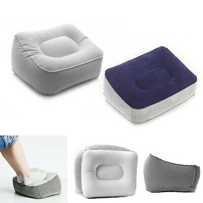 AU10.69 • Buy Inflatable Foot Rest Travel Air Pillow Cushion Office Leg Up Footrest Relax Tool