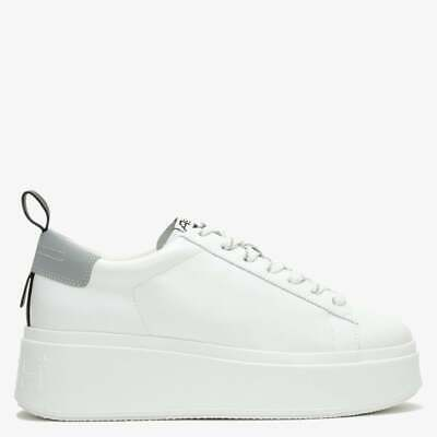 £64.99 • Buy Ash Moon White Sneakers Leather Platform Trainers Lace Up Trendy Shoes 5 38