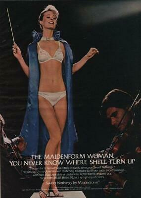 $4.97 • Buy 1982 Maidenform Vintage Print Ad Page Sexy Woman Bra Panties Orchestra Conductor