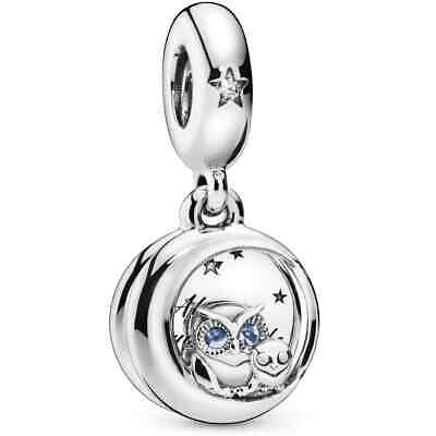 £8.99 • Buy Sterling Silver 925 Sparkling Owl Dangle Charm Always By Your Side & Gift Pouch