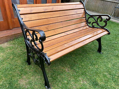 £259 • Buy Beautifully Restored Cast Iron Garden/Bench Seat/ Chair/ Wrought Iron