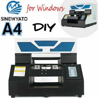 £1699 • Buy A4 UV Printer Flatbed Cylindrical Sign Glass Metal 3D Rotation Embossed R330
