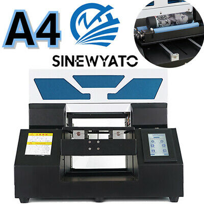 £1569 • Buy A4 UV Printer Flatbed Cylindrical Sign Glass Metal 3D Rotation Embossed DHL