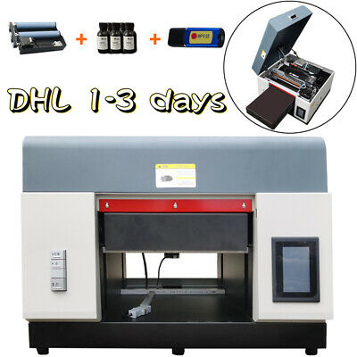 £2299 • Buy A3 UV Flatbed  Printer Cylindrical Signs Glass Metal Rotation DTG Printer