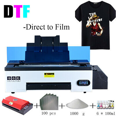 £1758 • Buy DTF Flatbed Printer Tshirt Personal DIY For Home Business With Oven Heater