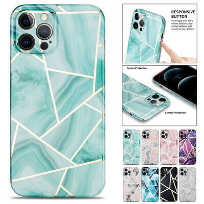 AU10.99 • Buy For IPhone 13 12 11 Pro Max XR X 8 SE Plus Case Marble Shockproof Soft Thin Cove