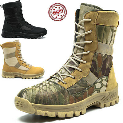 £28.99 • Buy Mens Tactical Army Military Patrol Desert Combat Boots Ankle Trainers Shoes Size