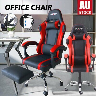 AU85 • Buy Executive Gaming Chair Office Computer Racer Seat Recliner PU Leather Chairs