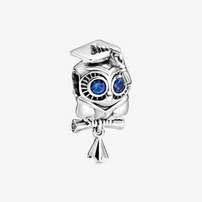 £11.80 • Buy New  Sterling Silver 925 Wise Owl Graduation Charm & Gift Pouch