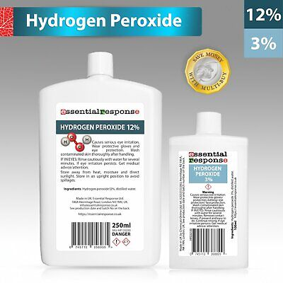 £3.50 • Buy Hydrogen Peroxide 3% 6% 9% 12% Various Sizes ✅ Same Day Dispatch ✅ Uk Made